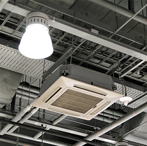 Hero image in a circle displaying image of Air Conditioning